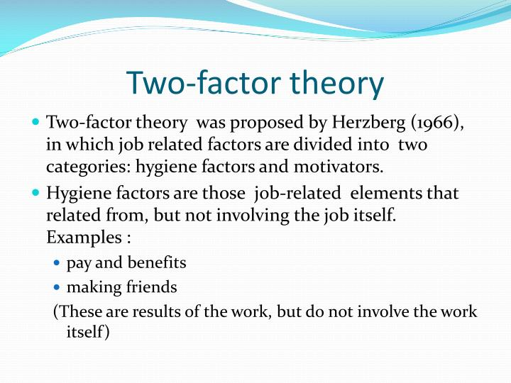 Two-factor theory