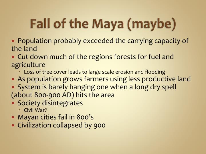 Fall of the Maya (maybe)