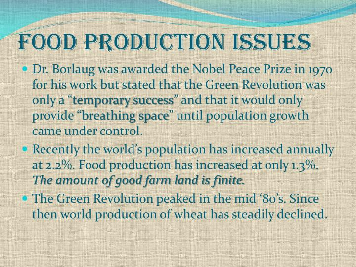Food Production Issues