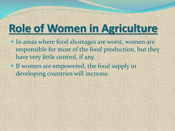 Role of Women in Agriculture