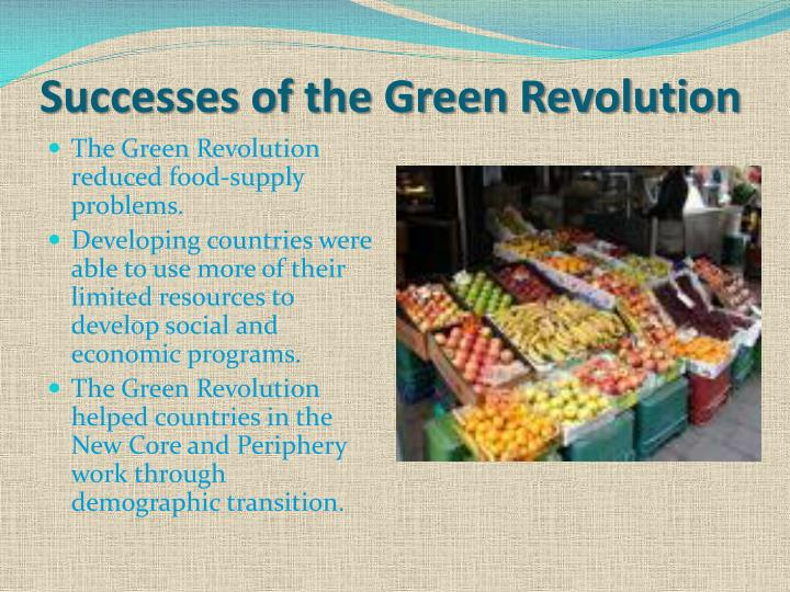 Successes of the Green Revolution