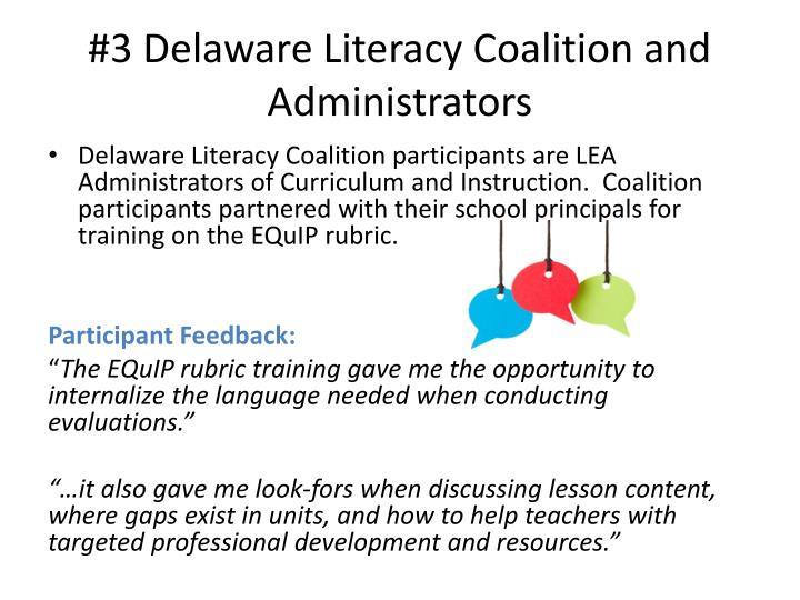 #3 Delaware Literacy Coalition and Administrators