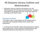 3 delaware literacy coalition and administrators