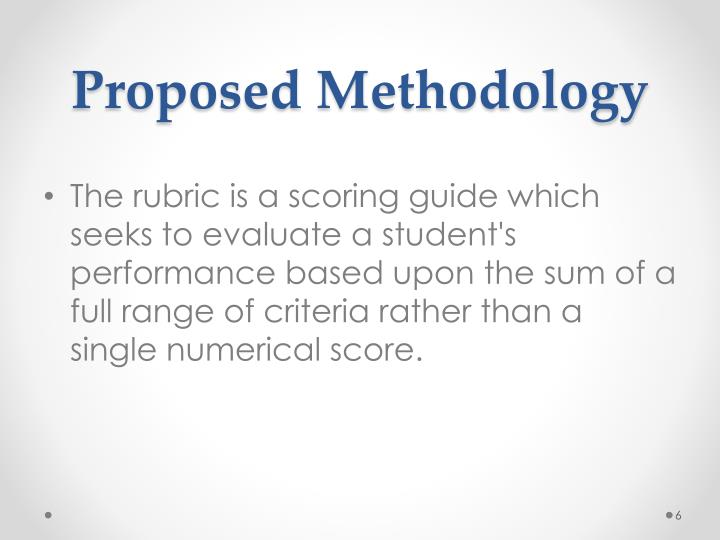Proposed Methodology