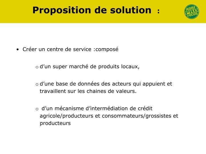 Proposition de solution
