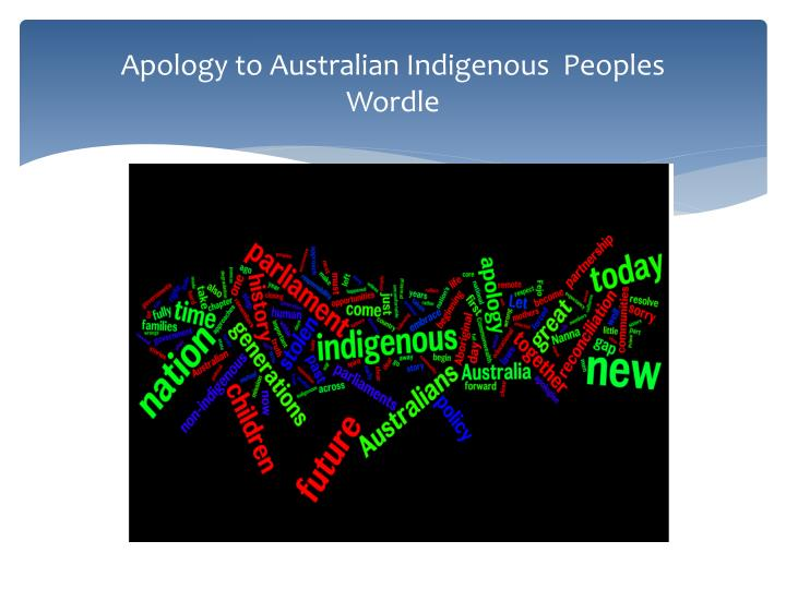 Apology to Australian Indigenous  Peoples