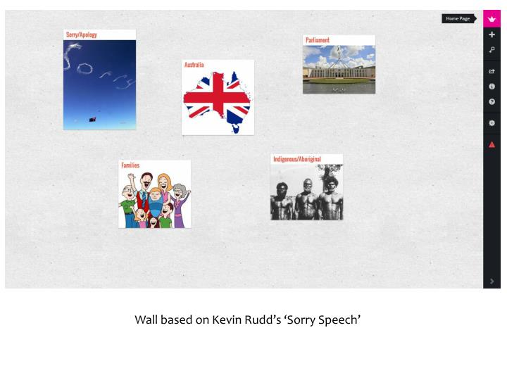 Wall based on Kevin Rudd's 'Sorry Speech'