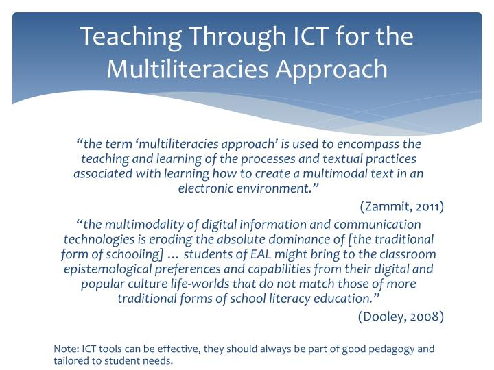 Teaching Through ICT for the