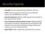 security capacity