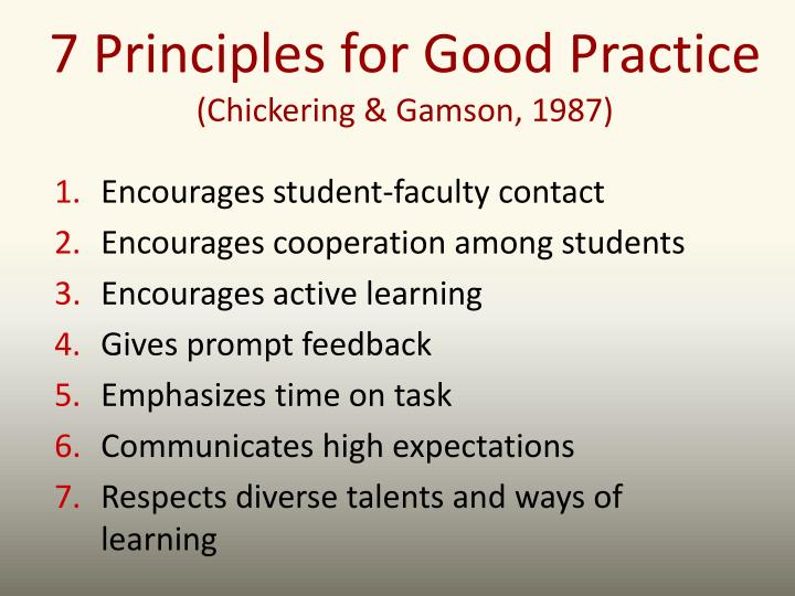 7 Principles for Good Practice