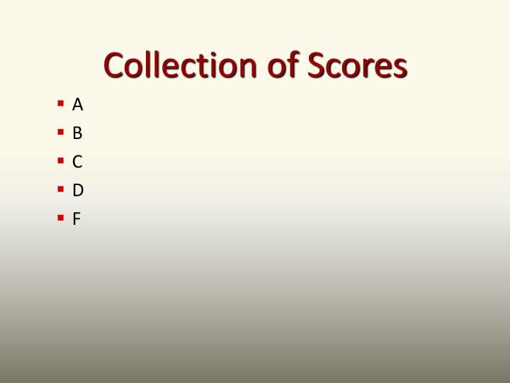 Collection of Scores