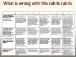 what is wrong with this rubric rubric
