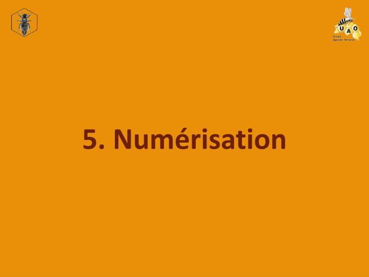 5. Numérisation