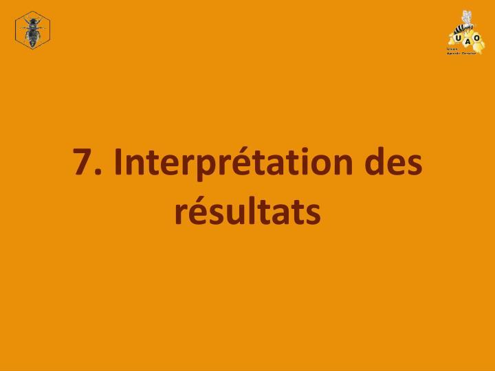 7. Interprétation des résultats