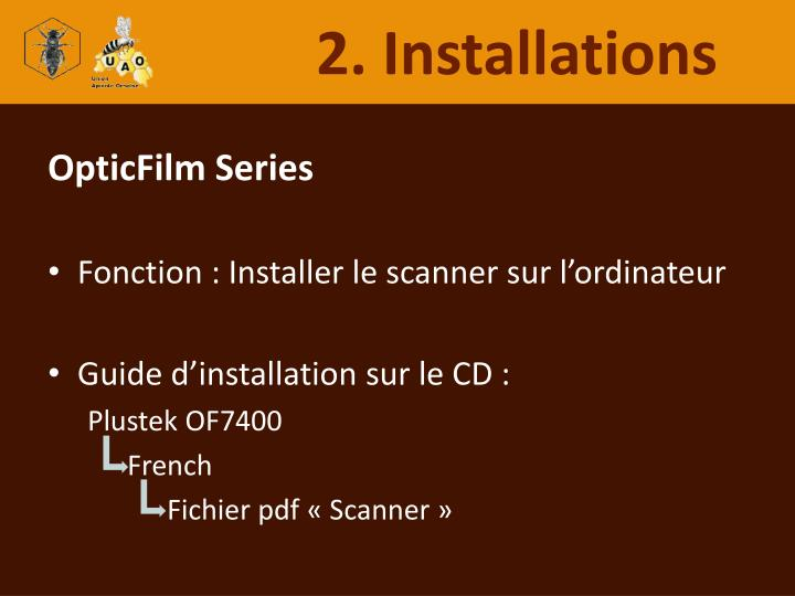 2. Installations