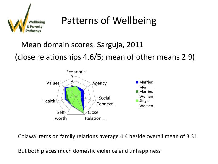 Patterns of Wellbeing