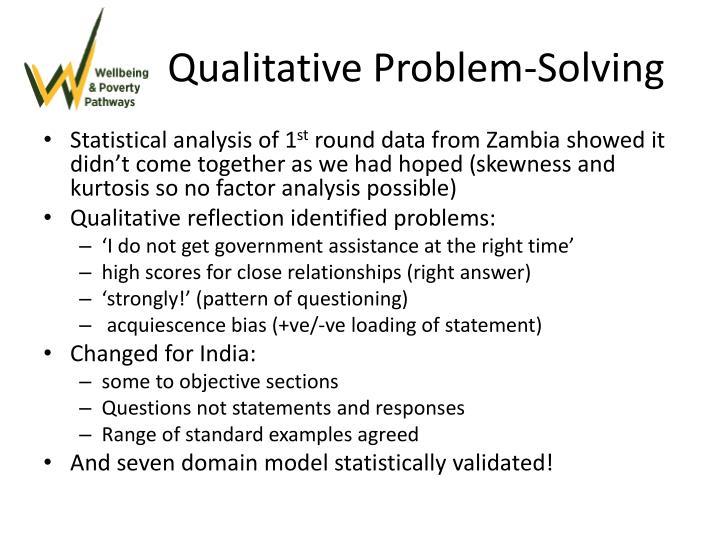 Qualitative Problem-Solving