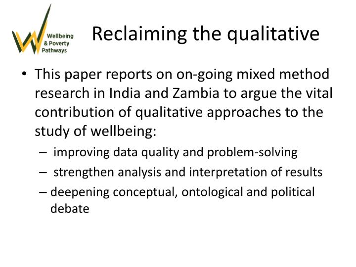 Reclaiming the qualitative
