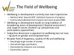 the field of wellbeing