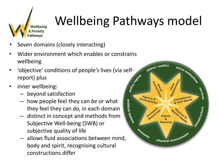 Wellbeing Pathways model
