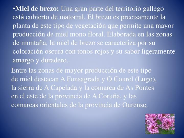 Miel de brezo: