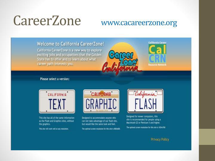 California Career Zone .pdf - Utilize the California ...