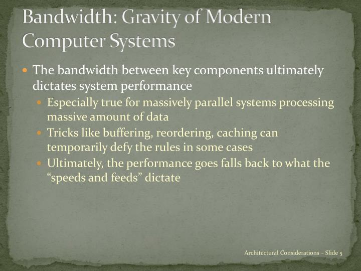 Bandwidth: Gravity of Modern Computer Systems