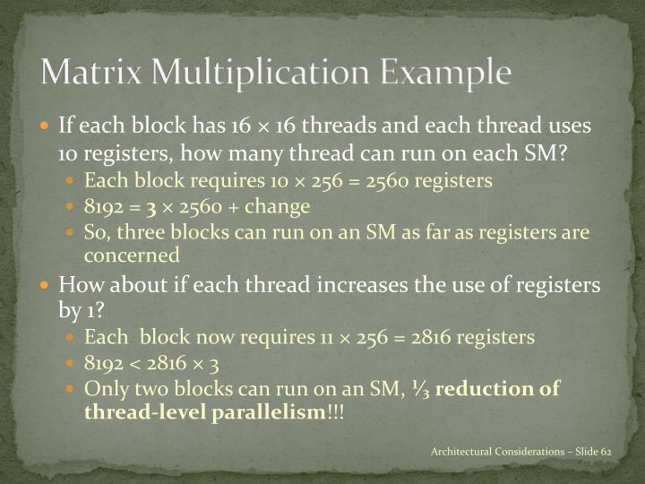 Matrix Multiplication Example