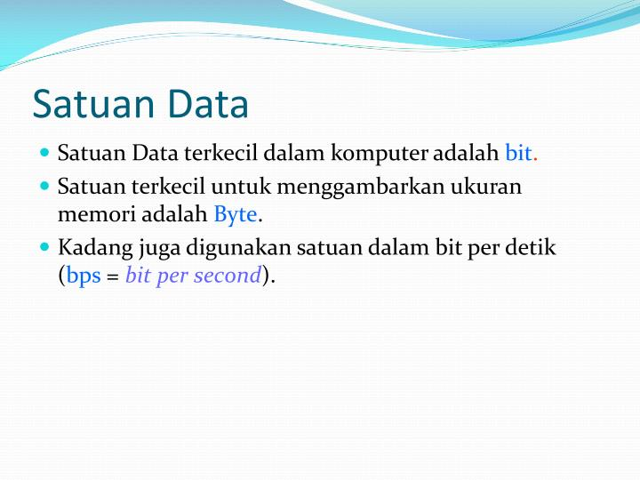 Satuan Data