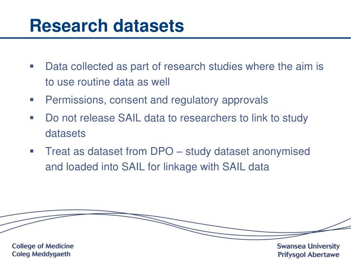 Research datasets