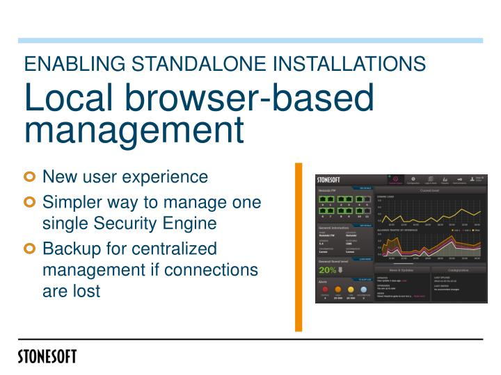 Enabling standalone installations