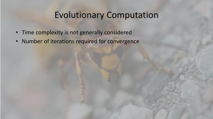Evolutionary Computation