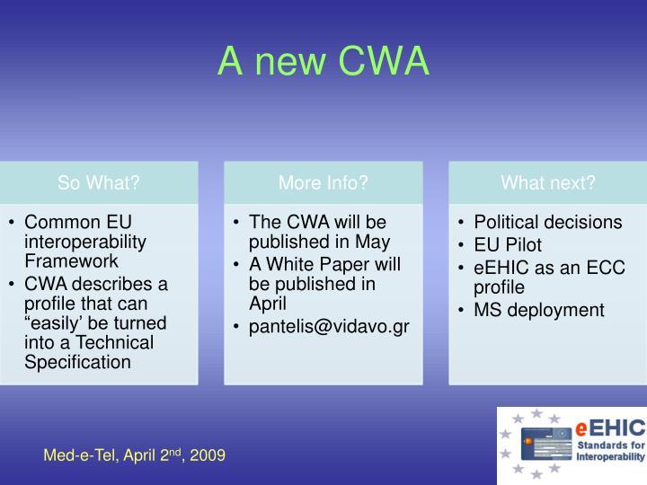 A new CWA