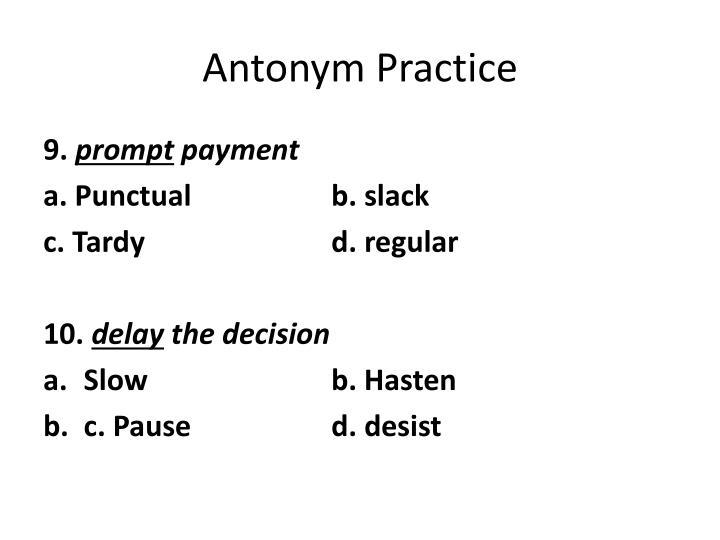 Antonym Practice