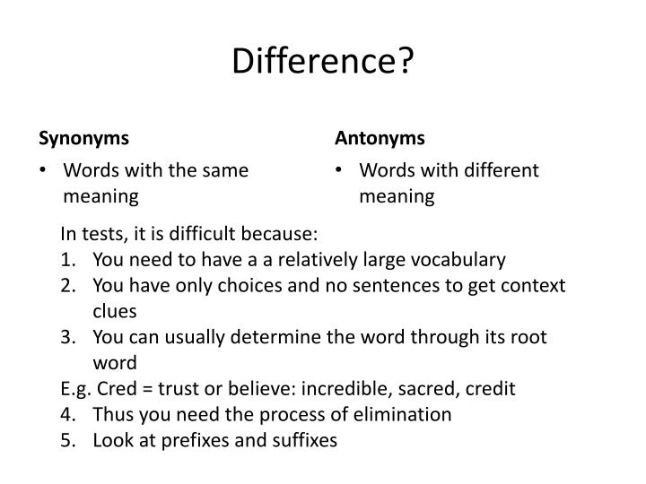 Difference?