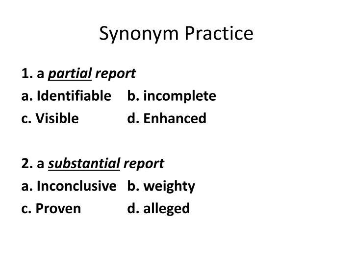 Synonym Practice