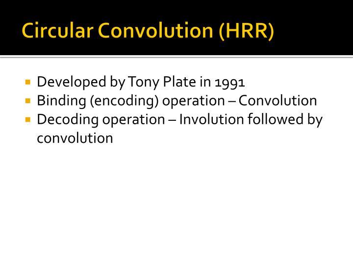 Circular Convolution (HRR)
