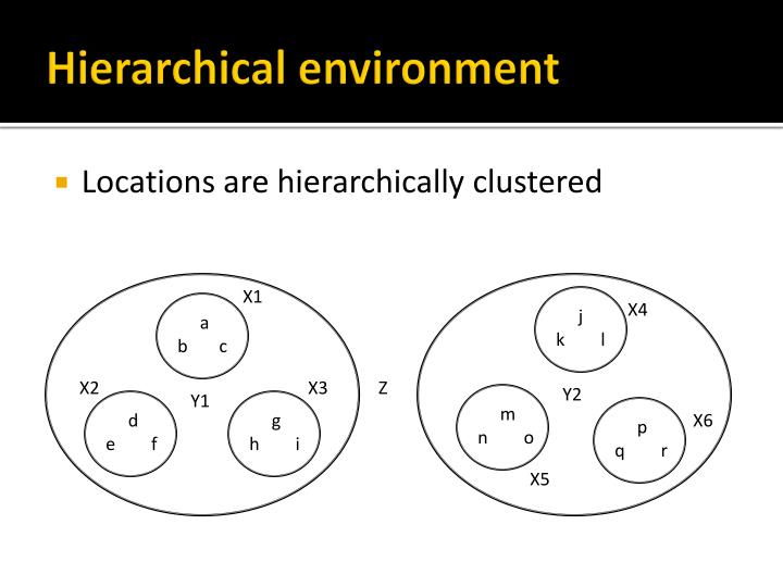 Hierarchical environment