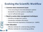 evolving the scientific workflow
