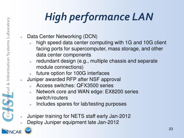 High performance LAN