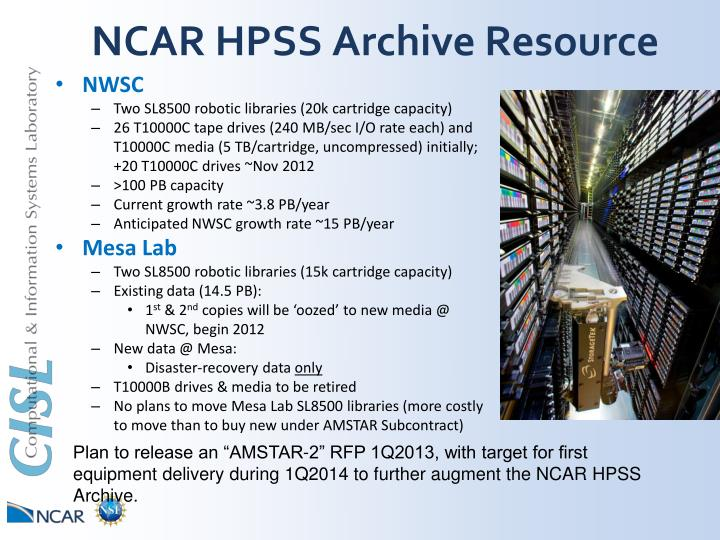 NCAR HPSS Archive Resource