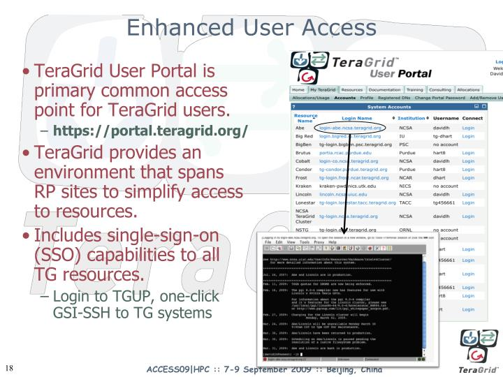 Enhanced User Access