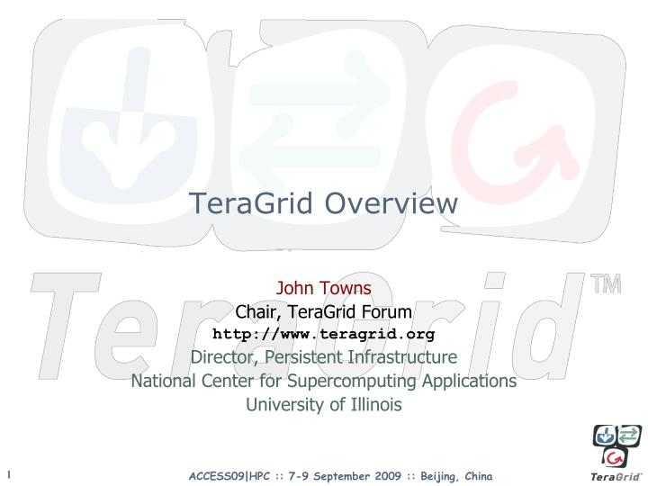 Teragrid overview