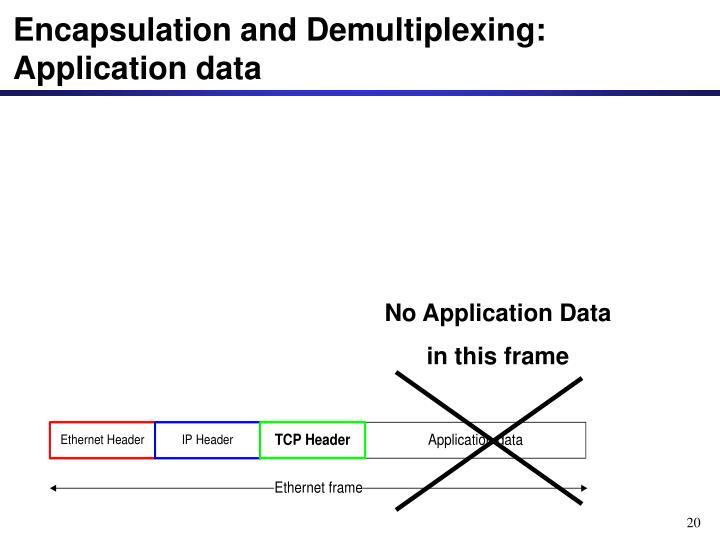 No Application Data