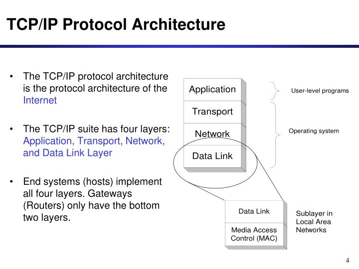 The TCP/IP protocol