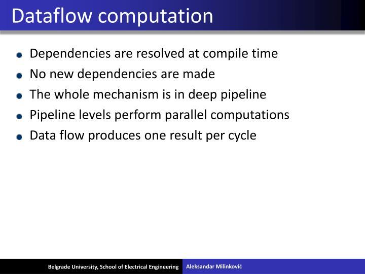 Dataflow computation