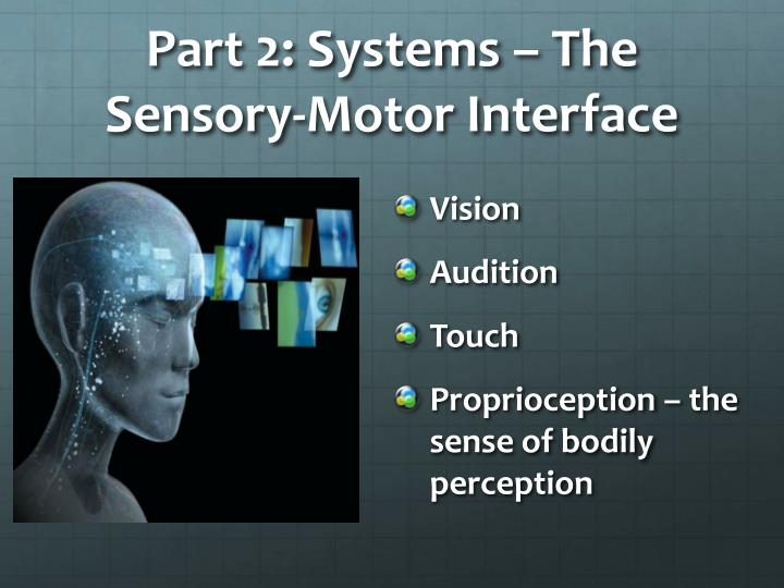 Part 2: Systems – The Sensory-Motor Interface