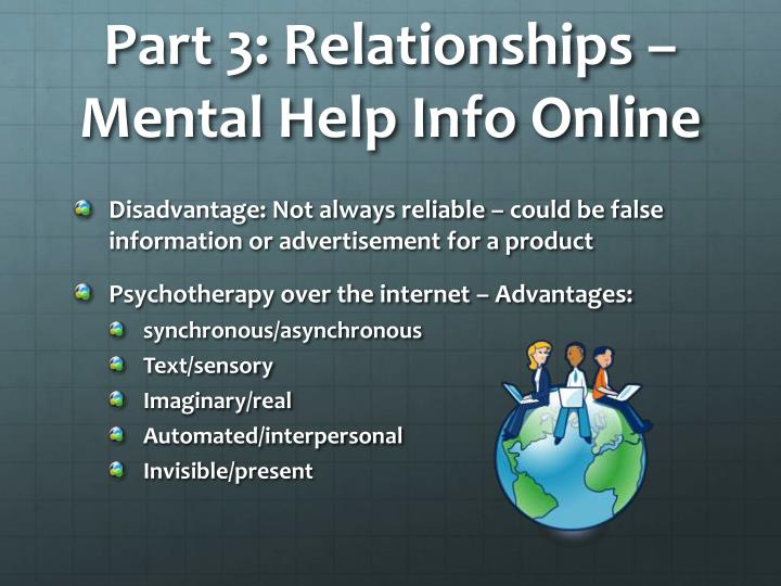 Part 3: Relationships – Mental Help Info Online