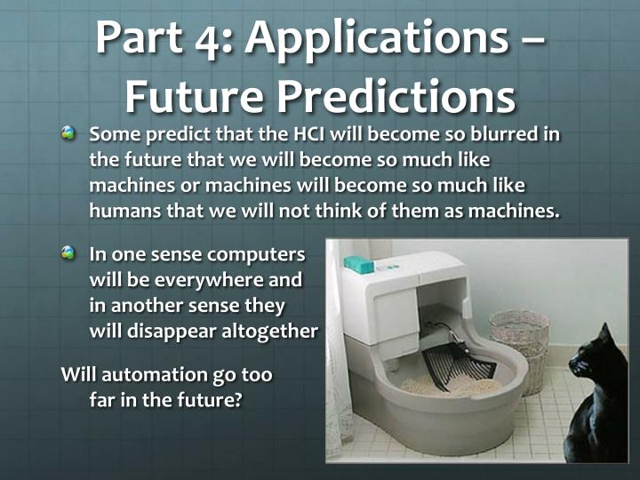 Part 4: Applications – Future Predictions