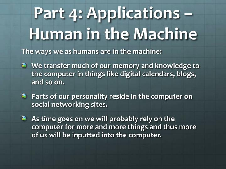 Part 4: Applications – Human in the Machine
